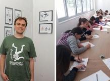 У читаоници Библиотеке Будве Школа стрипа Симона Вучковића.